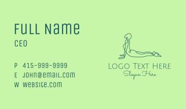 Yoga Cobra Pose Business Card