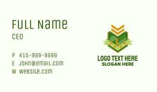 Army Insignia Lettermark  Business Card