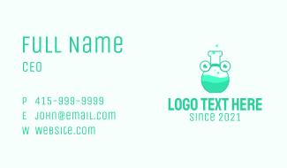 Medical Chemist Mascot  Business Card