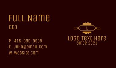Baguette Bakery Letter Business Card