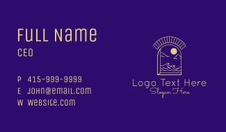 Beach Resort Gateway  Business Card