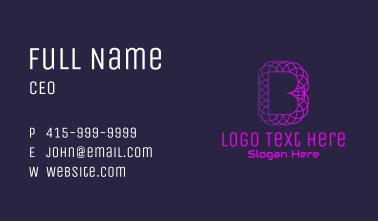Gradient Letter B Geometric Business Card