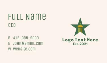 Arabic Mosque Star Business Card