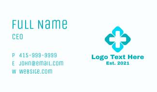 Minimalist Medical Cross Business Card