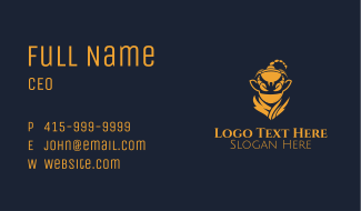 Golden Scorpion Ninja Astrology Business Card