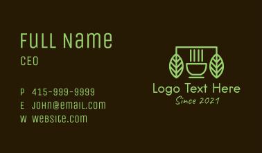 Green Organic Coffeehouse Business Card