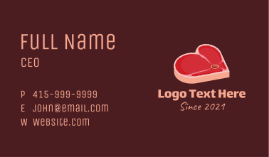 Meat Lover Business Card