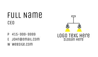 Double Pendant Light Fixture Business Card