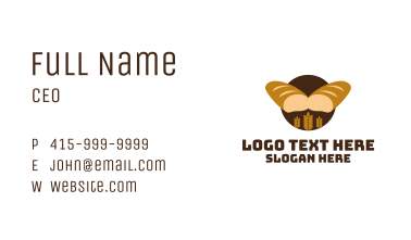 Wheat Bread Loaf Bakery Business Card