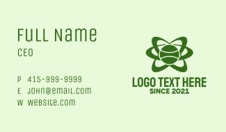Green Tennis Orbit  Business Card