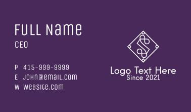 White Tile Letter S Business Card