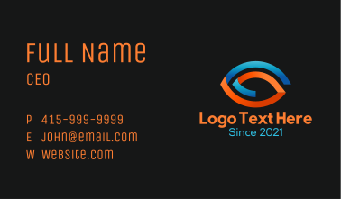 Abstract Optical Eye Business Card
