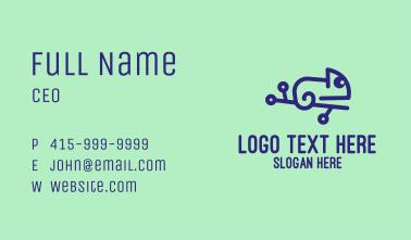 Digital Blue Chameleon Business Card