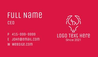 Minimalist White Phoenix Business Card