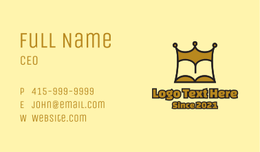 Gold King Book  Business Card