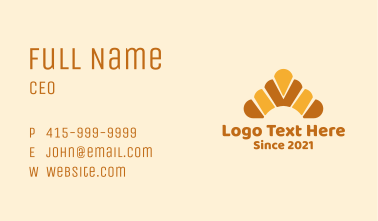 Croissant Bread  Business Card