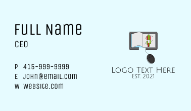 Online Learning Ebook Business Card