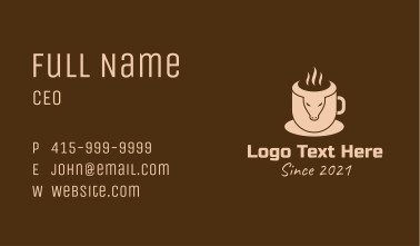 Bull Coffee Cup Business Card