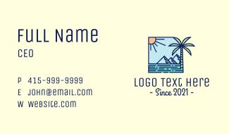 Tropical Mountain Resort Business Card