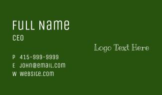 Chalk Wordmark Business Card