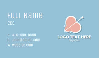 Heart Bow Valentines Business Card
