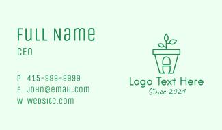 Herbal Plant Medicine  Business Card