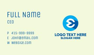 Hip Advertising Letter E Business Card