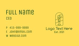 Citrus Beverage Line Art  Business Card