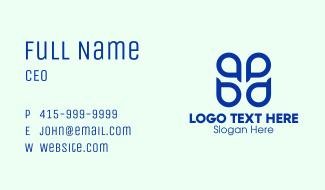 Blue ABPD Monogram  Business Card