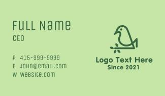 Monoline Eco Bird Business Card