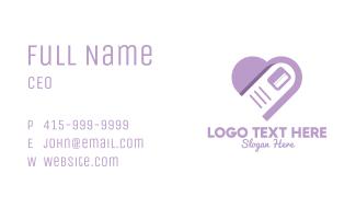 Nail Purple Heart Business Card