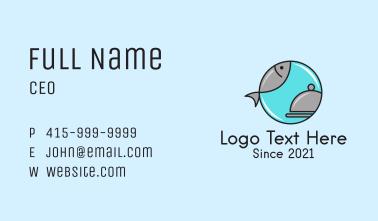 Fish Restaurant Bell Business Card