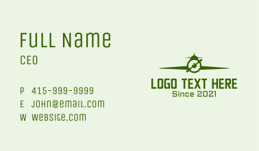 Green Flying Airplane Business Card