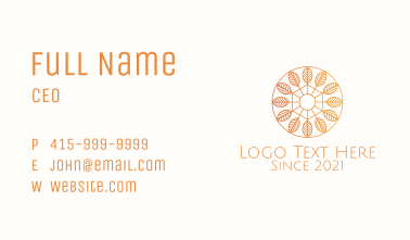 Orange Autumn Badge  Business Card