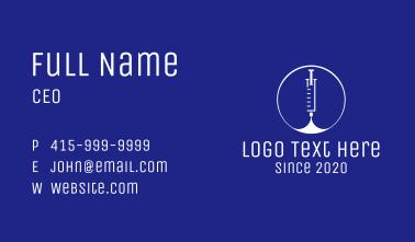 Medical Vaccination Syringe Business Card