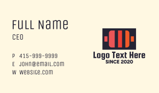 Warm Battery Pack Business Card