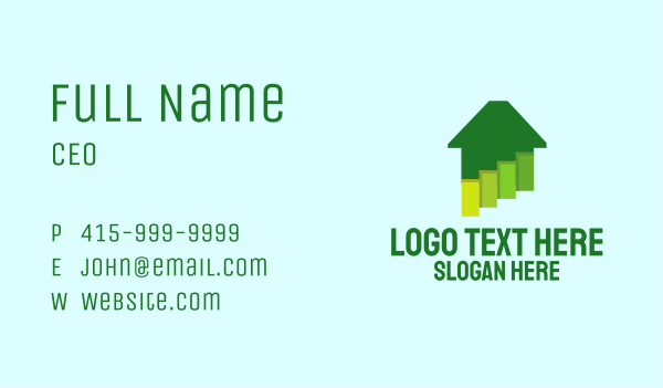 household - Green Home Paints Business card horizontal design