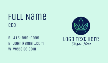 Leafy Nature Crown Business Card