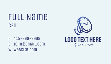 Blue Time Reel  Business Card