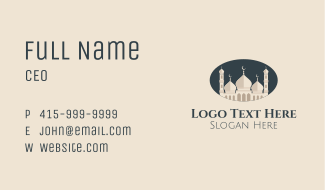 Oval Mosque Badge Business Card