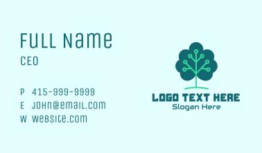 Tech Cloud Tree Circuit Business Card