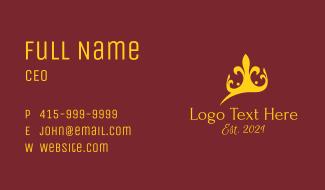 Golden Queen Crown  Business Card