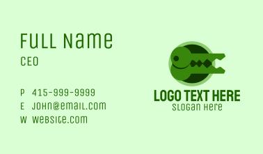 Green Crocodile Key Business Card