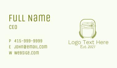 Organic Kombucha Jar Business Card
