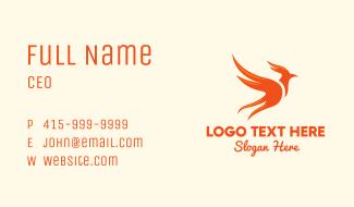 Legendary Fiery Phoenix Business Card