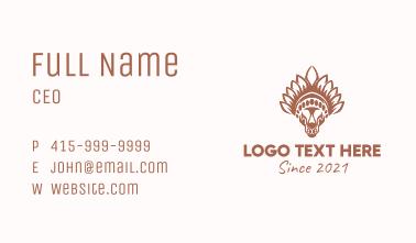 Tribal Tiger Head  Business Card