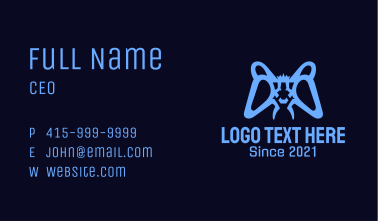 Blue Monster Game Controller  Business Card