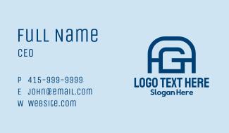A & G Monogram  Business Card