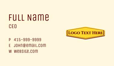 Template Wordmark Business Card