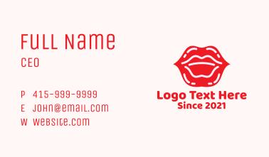 Lip Gloss Cosmetics Business Card